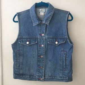 Vintage Pendleton Jean Vest with Wool Design